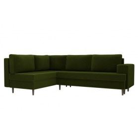 Угловой диван Сильвана, Зеленый (вельвет)