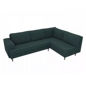 Угловой диван Сильвана, Зеленый (велюр)