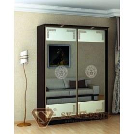 Шкаф-купе Victory, 2 двери, 1400х600х2200, 2 зеркала с рис. Версаче