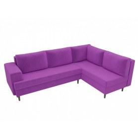 Угловой диван Сильвана, Фиолетовый (вельвет)