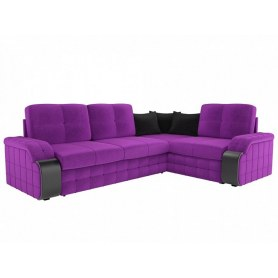Угловой диван Николь, Фиолетовый (микровельвет)