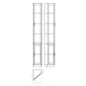 Шкаф 208 правосторонний, цвет Дуб Сонома
