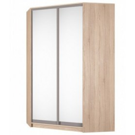 Угловой шкаф-купе Аларти (YA-230х1400(602) (4) Вар. 3; двери D5+D5), с зеркалом