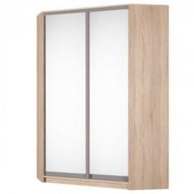 Угловой шкаф-купе Аларти (YA-198х1250(602) (6) Вар. 2; двери D5+D5), с зеркалом