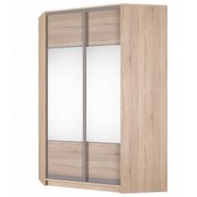 Угловой шкаф-купе Аларти (YA-230х1400(602) (2) Вар. 5; двери D3+D3), с зеркалом и ящиками
