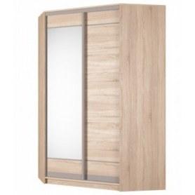 Угловой шкаф-купе Аларти (YA-230х1400(602) (10) Вар. 1; двери D1+D2), с зеркалом