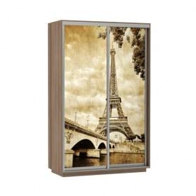 Шкаф-купе Дуо 1200x600x2200, фотопечать Париж, шимо темный