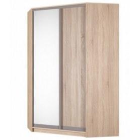 Угловой шкаф-купе Аларти (YA-230х1400(602) (10) Вар. 5; двери D5+D6), с зеркалом