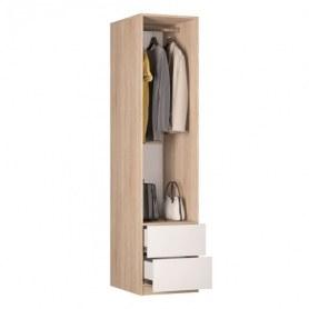 Шкаф одностворчатый Реал (Push to open; R-198х45х60-3-PO-М), с зеркалом