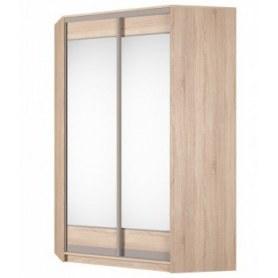 Угловой шкаф-купе Аларти (YA-230х1400(602) (10) Вар. 4; двери D2+D2), с зеркалом