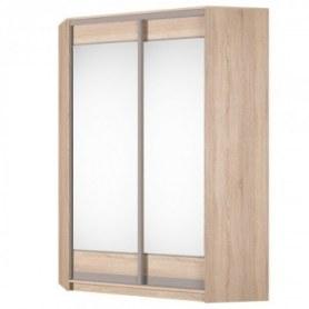 Угловой шкаф-купе Аларти (YA-198х1250 (602) (6) Вар. 2; двери D2+D2), с зеркалом