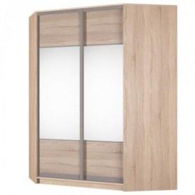 Угловой шкаф-купе Аларти (YA-198х1400 (602) (8) Вар. 2; двери D3+D3), с зеркалом