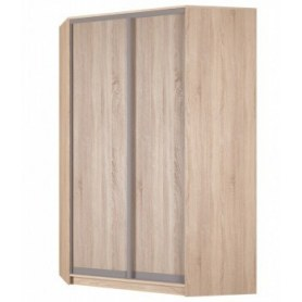 Угловой шкаф-купе Аларти (YA-230х1400(602) (10) Вар. 1; двери D6+D6), без зеркала