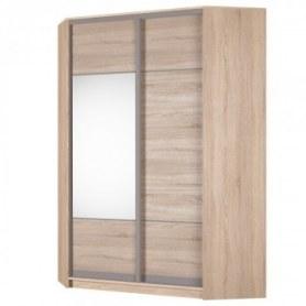 Угловой шкаф-купе Аларти (YA-198х1250 (602) (6) Вар. 4; двери D3+D4), с зеркалом