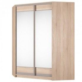 Угловой шкаф-купе Аларти (YA-198х1400 (602) (8) Вар. 2; двери D2+D2), с зеркалом