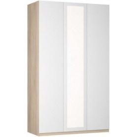 Шкаф распашной Реал (Push to open; R-230х135х45-1-PO-М), с зеркалом