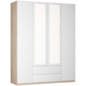 Шкаф распашной Реал (Push to open; R-230х180х60-2-PO-М), с зеркалом
