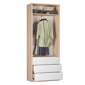 Шкаф двустворчатый Реал (Push to open; R-230х90х45-4-PO), без зеркала