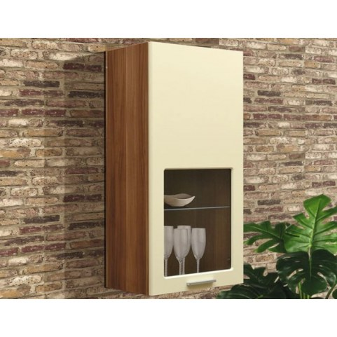 Шкаф навесной М-8, цвет Ваниль глянец, Дуб Барри
