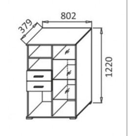 Шкаф М-3, цвет Ваниль глянец, Дуб Баррик