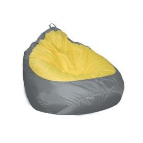 Кресло-мешок Груша-2 new, Оксфорд 240 серый/Оксфорд 240 желтый