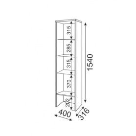 Шкаф-пенал Тиффани М04 (надстройка) с комплектом подсветки
