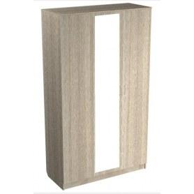 Шкаф трехдверный МВ6З, Виола, с зеркалом, ясень шимо светлый