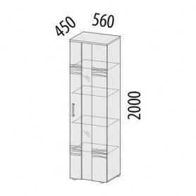 Шкаф витрина большой левый 33.05 Мокко 560х450х2000