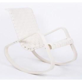 Кресло-качалка Дженни, экокожа бежевая