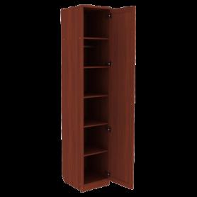 Шкаф для белья арт. 105 со штангой и полками, цвет Итальянский Орех