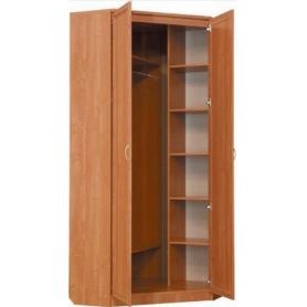 Шкаф  401 угловой со штангой, цвет Итальянский Орех