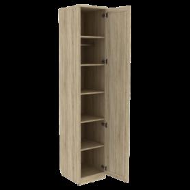 Шкаф для белья арт. 105 со штангой и полками, цвет Дуб Сонома