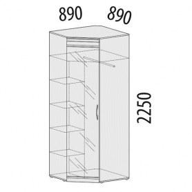 Версаль 99.09 Шкаф угловой правый с зеркалом 890х890х2250