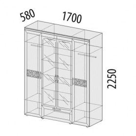 Шкаф четырехдверный Тиффани 93.14 с зеркалом
