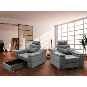 Кресло-кровать КИТ-14, с коробом, с мягкими подлокотниками