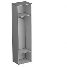 Шкаф комбинированный Gloss, (G-ШК к, евроштанга, Выбеленный дуб)