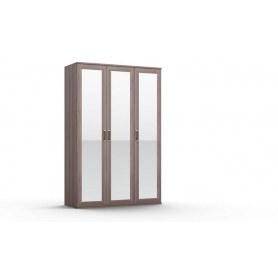 Шкаф трехстворчатый Gloss, 3 зеркала, (G-ШО-03 зр, Дуб Шамони)