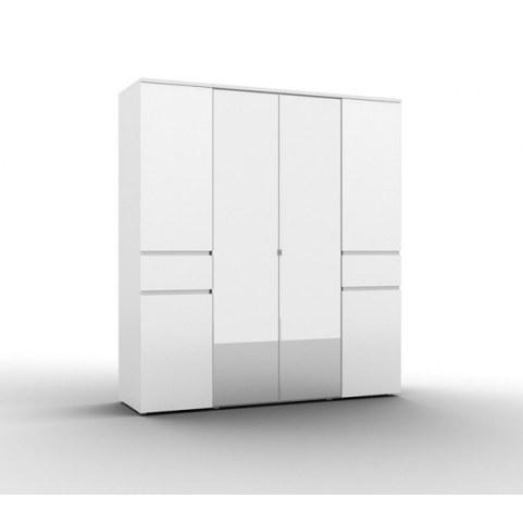 Шкаф для одежды фасады 2 двери 2 зеркала, Alberta (А-ШО-04, 2г/2зр)