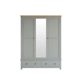 Шкаф двухстворчатый Jules Verne, (JV26ETG), серый