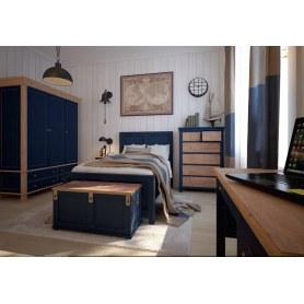 Шкаф двухстворчатый Jules Verne, (JV28ETGB), с ящиками, синий