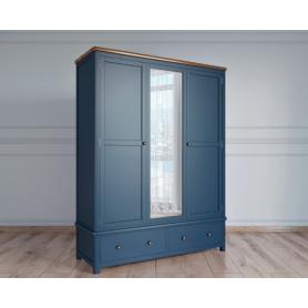 Шкаф двухстворчатый Jules Verne JV26ETGB (Синий)