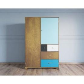 Шкаф двухстворчатый Aquarelle с ящиками (RE-45)