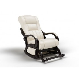 Кресло-качалка Родос маятниковая, экокожа крем