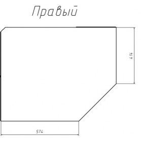 Шкаф угловой НМ 013.04-02 ПР Браво ЛДСП Дуб Девонширский