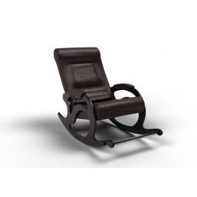 Кресло-качалка Тироль, экокожа венге