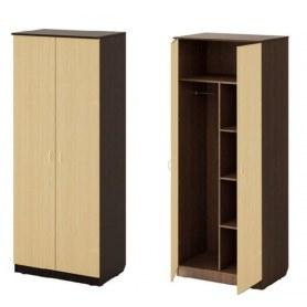 Шкаф двухдверный МД7, Дуэт, венге/дуб млечный