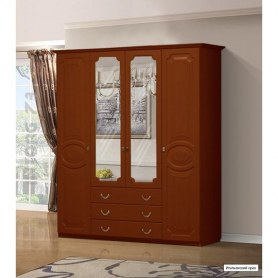 Шкаф Ивушка-5 4-х створчатый с ящиками, цвет Итальянский орех