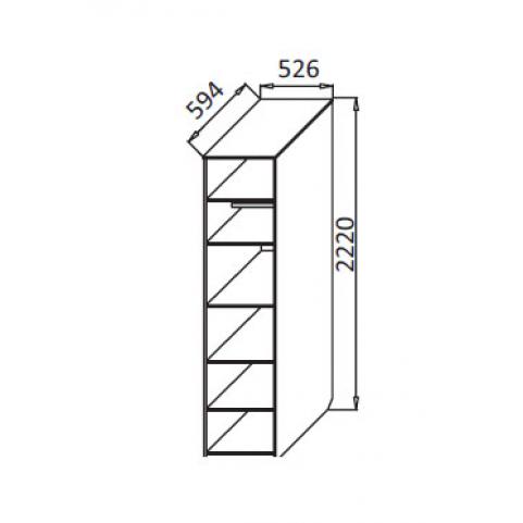 Шкаф-приставка Ева-8 СГ-12