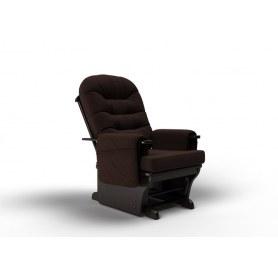 Кресло-качалка Венеция маятниковая, ткань шоколад