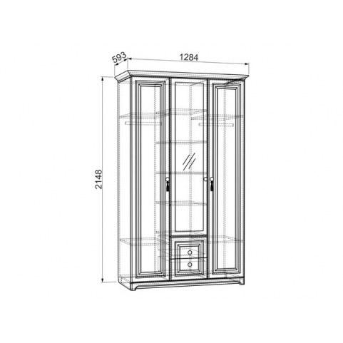 Шкаф 3-створчатый Белла (1284х593х2148)